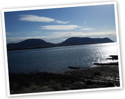 Stromness West Coast and the hills of Hoy